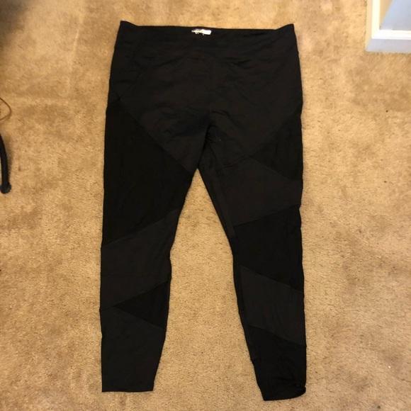 6a9dd2a8d8d253 Forever 21 Pants | Mesh Cut Out Leggings Plus Size 3x | Poshmark